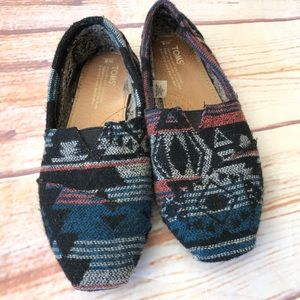 Toms flannel shoes